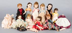 Eleven Madame Alexander Little Women dolls