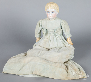 Large bisque head and shoulder doll