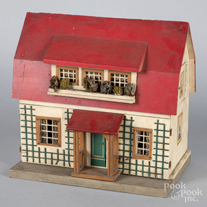 Schoenhut two-story dollhouse, early 20th c.