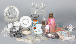 Group of miniature doll accessories