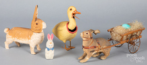 Three Easter toys, early 20th c.