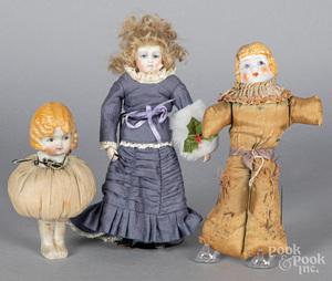 Cathy Hansen bisque artisan doll, etc.