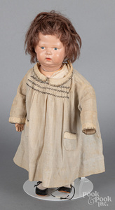 Schoenhut painted wood jointed doll