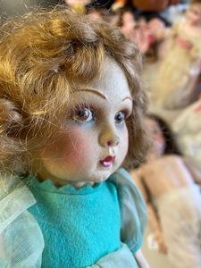 Two felt Lenci dolls
