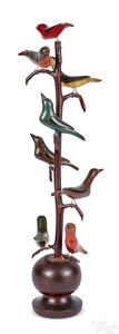 Schtockschnitzler Simmons painted bird tree