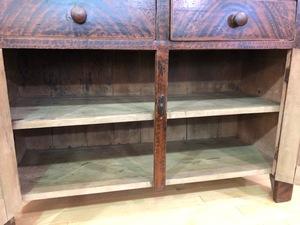 Pennsylvania painted poplar Dutch cupboard