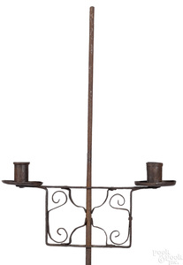 Wrought iron candlestand