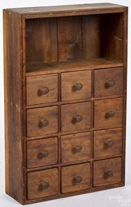 Pennsylvania poplar apothecary cabinet