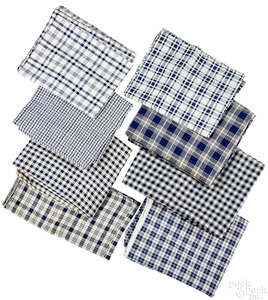 Group of early blue and white homespun