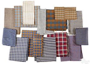 Group of homespun fabric