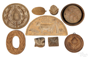Group of carved butterprints
