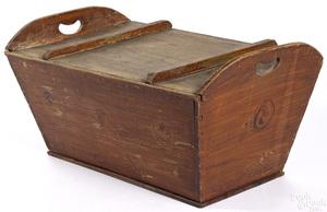 Pennsylvania painted poplar dough box