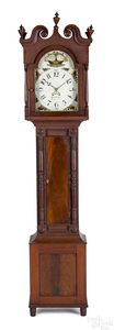 Pennsylvania Sheraton cherry tall case clock