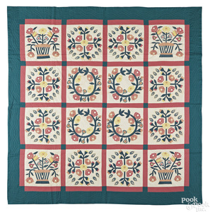 Large Pennsylvania appliqué quilt