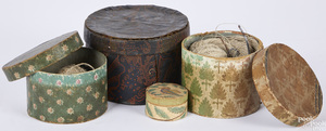 Four wallpaper dresser boxes