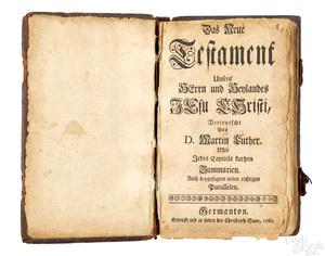 Christopher Sauer, Germantown, printed Bible