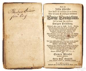 Christopher Sauer, Germantown, religious text