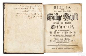 Christopher Sauer, Germantown, Bible