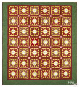 Pennsylvania flying crow pieced friendship quilt