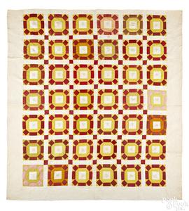 Pennsylvania Mennonite pieced friendship quilt