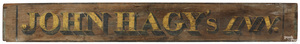 Painted pine double sided trade sign