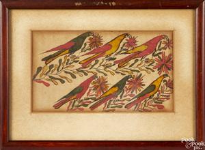 Pennsylvania watercolor fraktur reward of merit