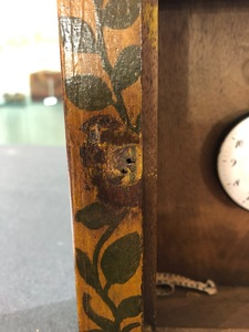 Pennsylvania painted walnut watch hutch