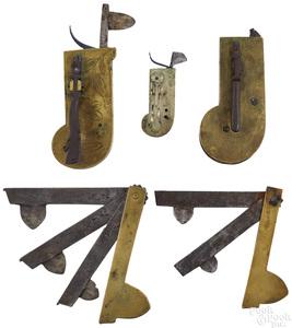 Five brass bleeders