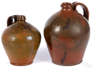 Two redware jugs