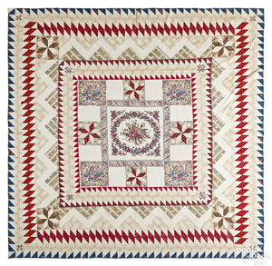 Pennsylvania pieced cotton quilt