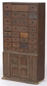 Pennsylvania stained poplar apothecary cupboard