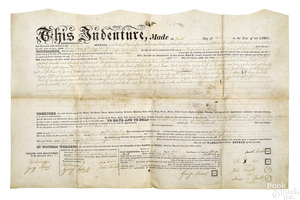 Collection of approximately twenty indentures