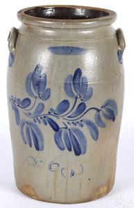 Western Pennsylvania six-gallon stoneware crock