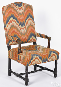 William and Mary oak armchair