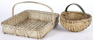 Two split oak baskets