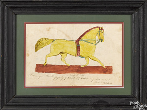 Pennsylvania watercolor drawing of a horse