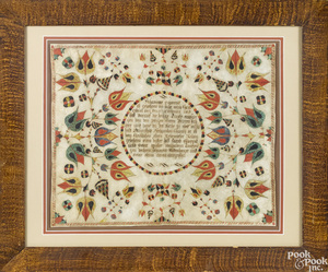 Pennsylvania fraktur birth certificate