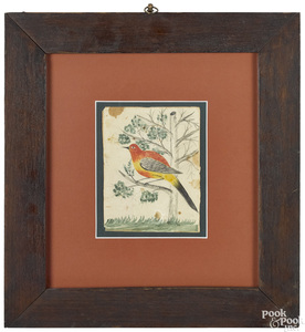 Late Berks County Artist watercolor fraktur
