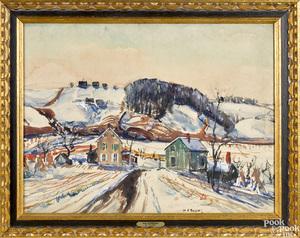 Walter Emerson Baum watercolor and gouache