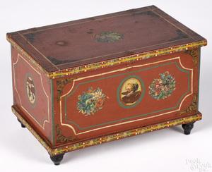 Joseph Lehn painted poplar dresser box