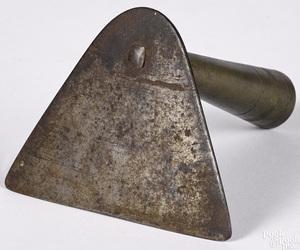 Peter Derr iron and brass dough scraper