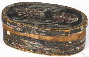 Berks County painted pine Bucher type bentwood box