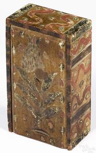 Painted pine slide lid box