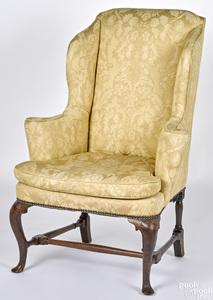 George II mahogany easy chair