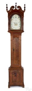 Pennsylvania Chippendale cherry tall case clock