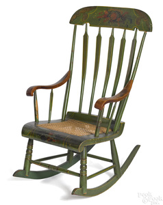 Painted Boston rocking chair