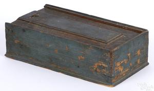 Pennsylvania painted pine slide lid box