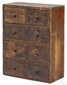 Pine table top spice cabinet