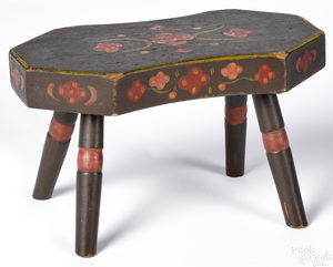 Berks County, Pennsylvania painted footstool