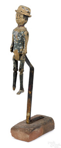 Black Americana carved articulated figure